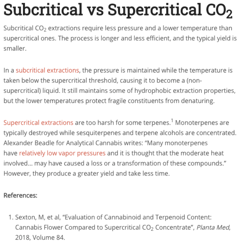 Cannabis Extraction Methods Supercritical vs Subcritical