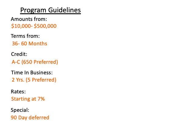 Envision Restaurant Bar Program Guidelines
